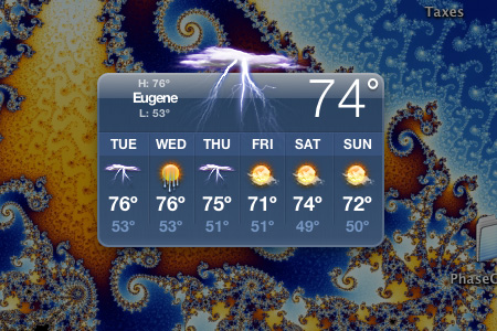weather widget, 6/2/09