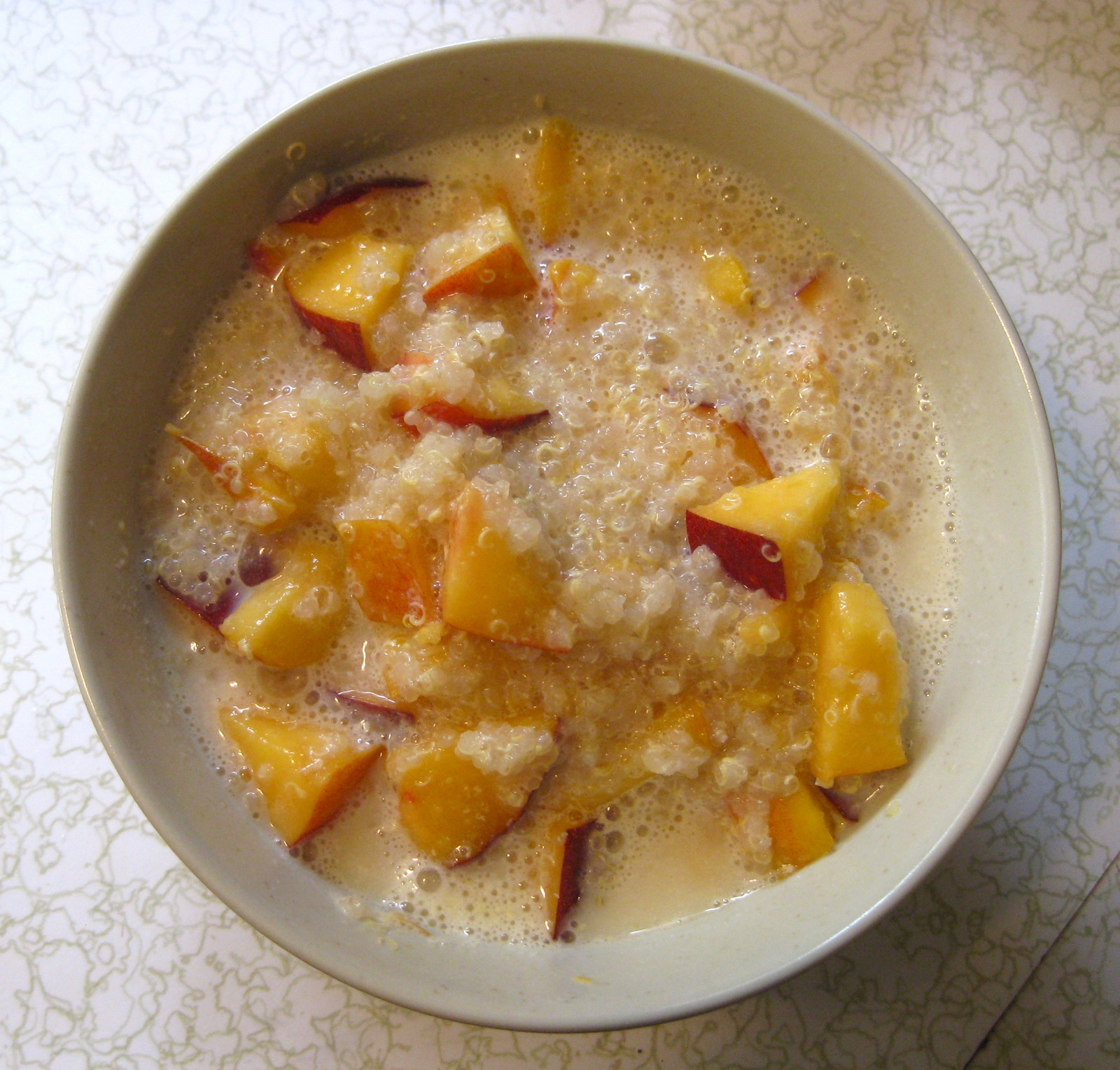 Peach Quinoa Porridge